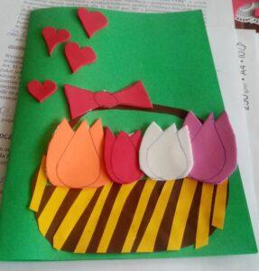 Praca plastyczna zgłoszona na Konkurs - Laurka Dla Mamy