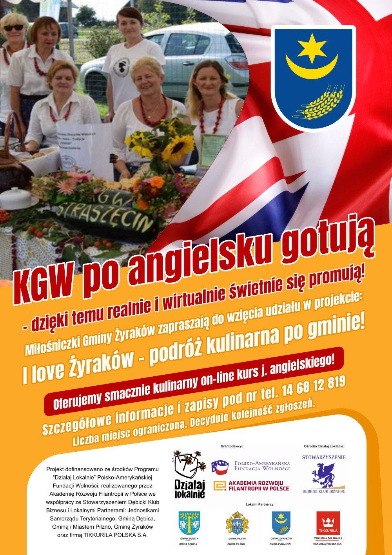 Plakat KGW po angielsku gotują