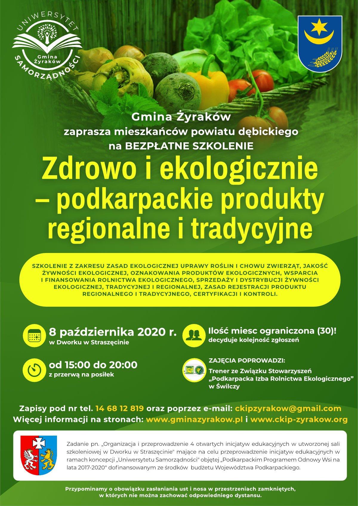 Zdrowo i ekologicznie - podkarpackie produkty regionalne i tradycyjne