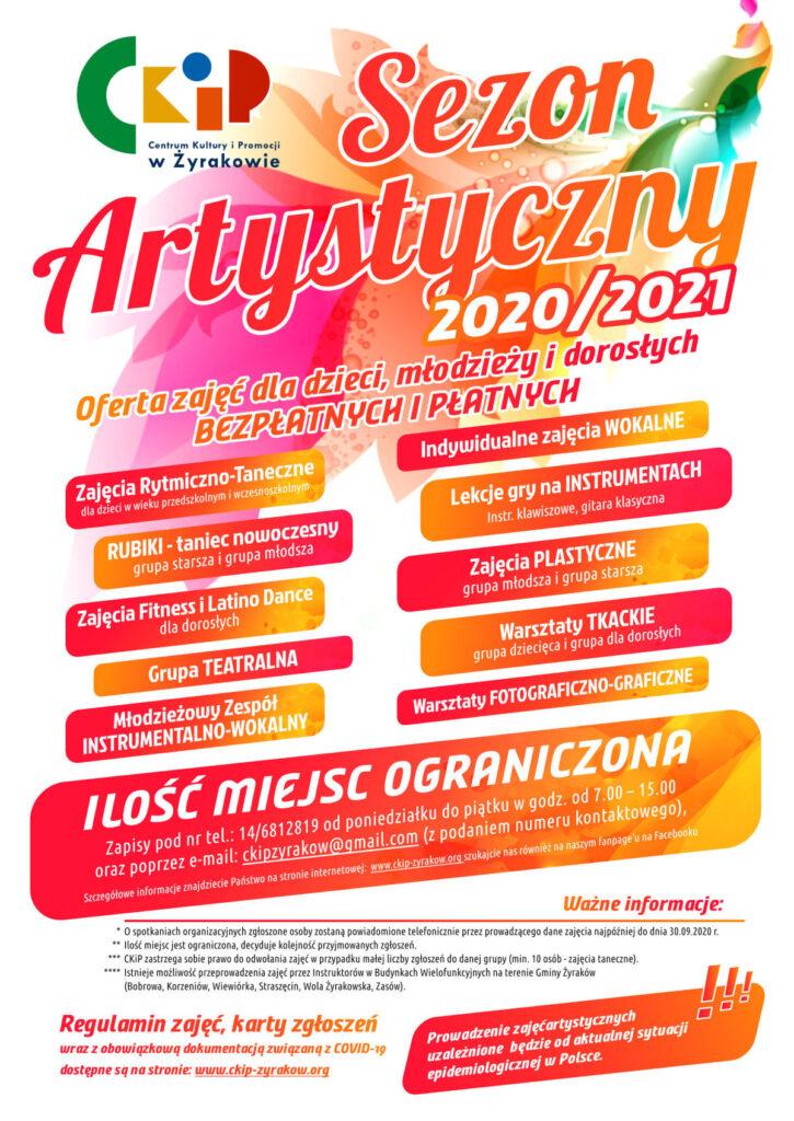 Plakat Sezon Artstyczny CKiP 2020/2021