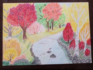 Praca zgłoszona na konkurs Jesień Bogactwo Kolorów - 2021